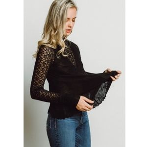 Free people No Limits Lace Layering Top